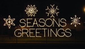 Seasons Greetings Snowflake Marquee