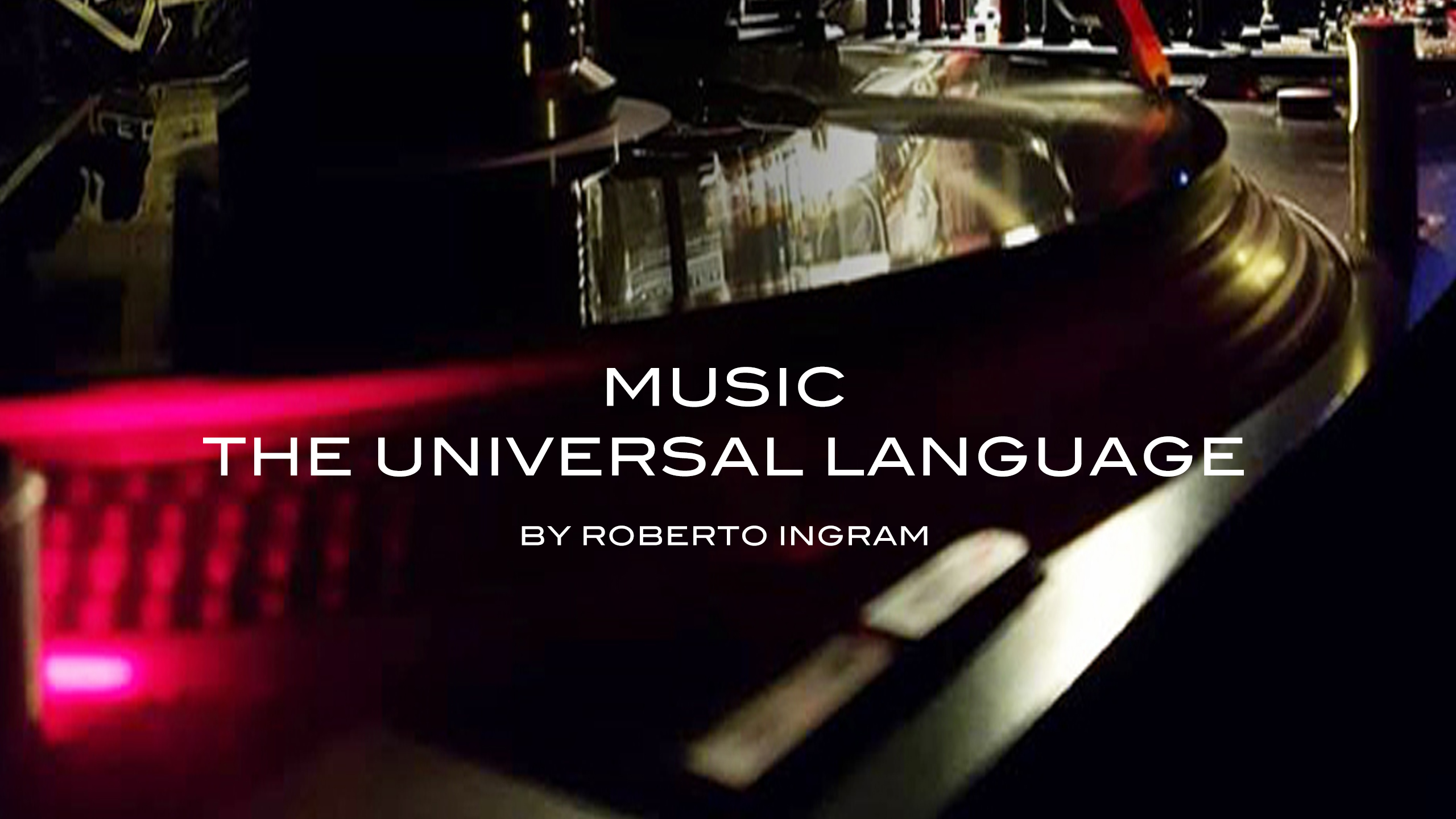Music The Universal Language Live Stream Aug  01, 2018